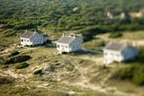 Aerial of beach homes.