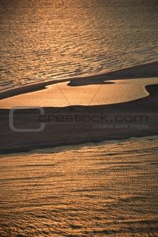Aerial of beach.
