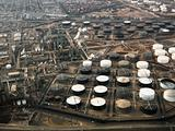 Oil refinery aerial.