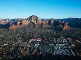 Sedona, Arizona aerial.