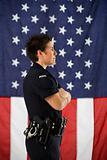 Policewoman profile.
