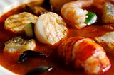 Delicious fresh seafood bisque