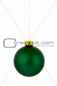 Green hanging Christmas ornament