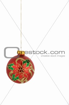 A multi-colored Christmas ornament