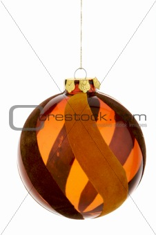 An image of a orange Christmas ornament