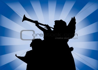angels with trumpet