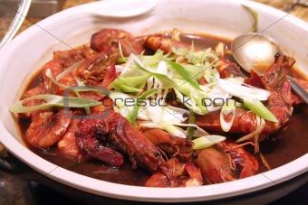 Prawn dish