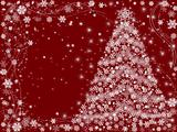 christmas tree red