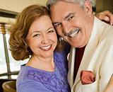 Mature couple portrait.