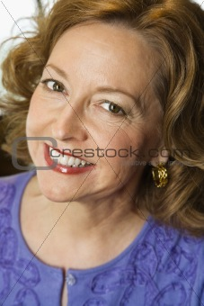 Smiling woman portrait.