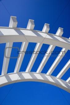 Arch of arbor.