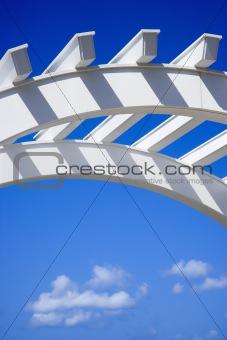 Arch of trellis.