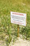 Environmental warning sign.