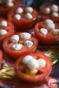 Tomatoes and  cheese.