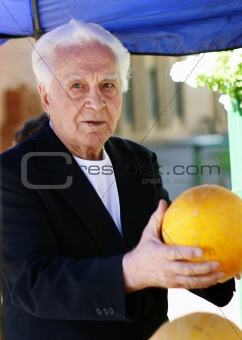 Old man at the marketplace