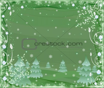 Abstract floral  background - decor design illustration