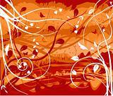 Abstract floral  background - decor design illustration