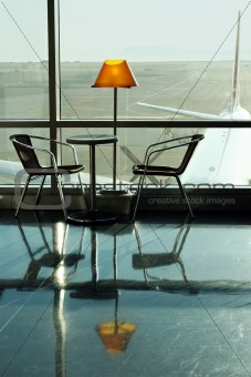 Cafe at the airport