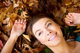 autumn girl portrait smiling
