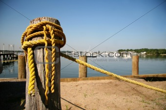 Old yellow rope