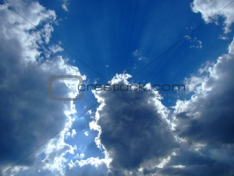 sky background. sky, sun and clouds background.