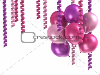 3d purple balloons