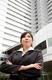 successful asian business woman at the modern office building