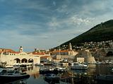 Dubrovnik harbor at dawn
