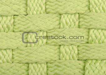 green handmade wicker texture background