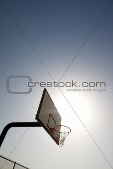 Backboard basket side