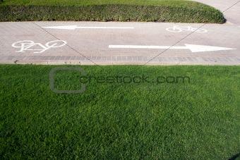 Cycling lane upside down left