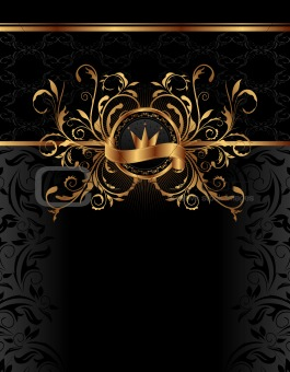 royal background with golden frame
