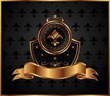 royal golden frame with fleur de lis