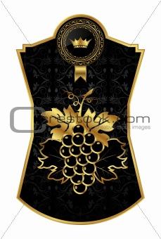 black-gold frame for packing wine