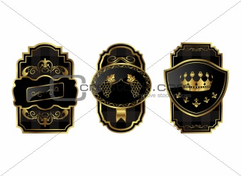 black-gold decorative frames