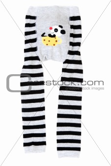 Baby striped pantyhose with pattern