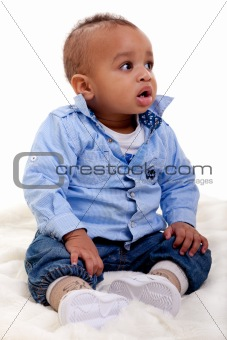 Adorable African American baby