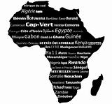 Africa map typography