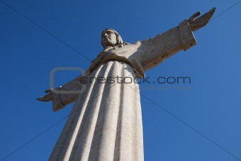 Jesus Christ monument in Lisbon, Portugal