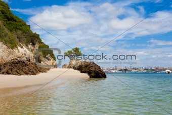 Beautiful beach of Setubal in Portugal