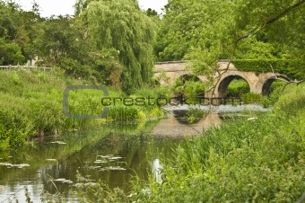 Bridge over small river at Barrowden