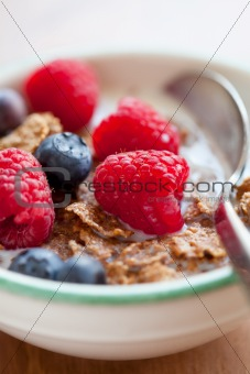 Breakfast cereal with berries