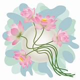 Floral decoration. Lotus.