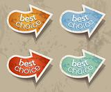 Distressed Arrows Speech bubbles set