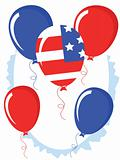 Independence day,balloons