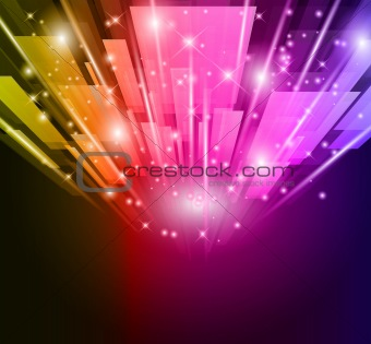 Abstract Glow of lights for Business or Corporate Flyers