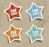 """TOP PRICE"" retrò style bubbles sticker."