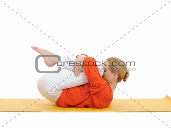 series or yoga photos. young woman in relaxation pose