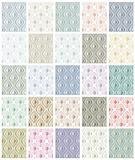 Set of rhombus seamless patterns.