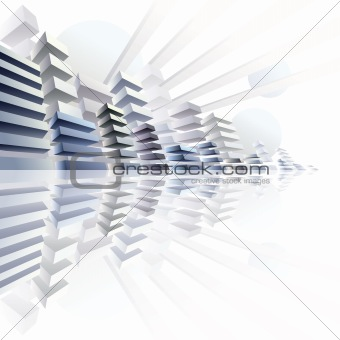 3d urban abstract futurism image.
